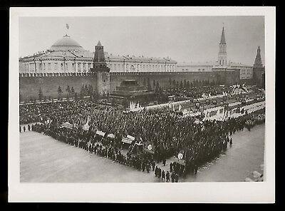 Press-Photo Foto 1 1948 UDSSR 31. Jahrestag Oktoberrevolution Moskau Roter Platz