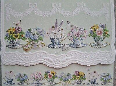 Carol Wilson Fine Arts Stationery 10 Note Cards Envelopes Blank Tea Cups Teacups
