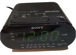 SONY DREAM MACHINE ICF-C218 ALARM CLOCK RADIO BLACK TESTED