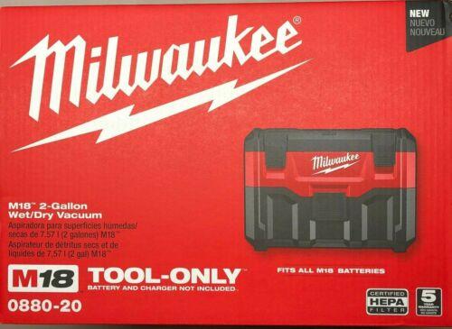 Milwaukee 0880-20 M18 2 Gallon Wet/Dry Vacuum NEW in the Box