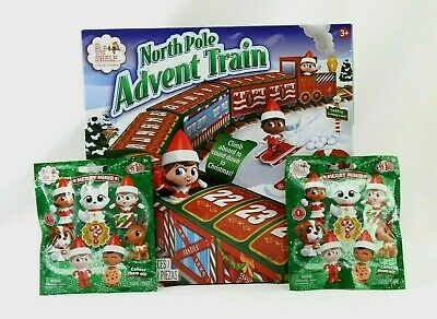 New Elf On The Shelf Christmas Lot North Pole Advent Train Calendar 2 Extras Lot