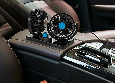 Dual Head 12V 360 All Round Car Truck Center Console Summer Cooling Air Fan Kit