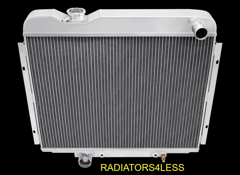 """CHAMPION 3 ROW ALUMINUM RADIATOR 64 65 66 FORD GALAXIE SMALL BLOCK V8 24/"""" CORE"""
