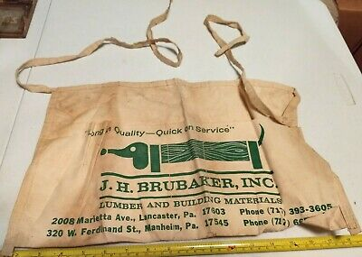 Vtg J. H. Brubaker Lancaster Manheim PA Advertising Dachshund Dog Nail Apron