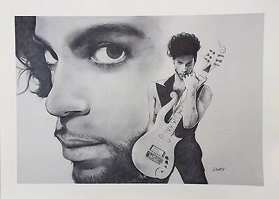 """PRINCE PIC POSTER FRAMABLE PRINT OF DRAWING HEAVY DUTY TEXTURED PAPER  26""""X19"""""""