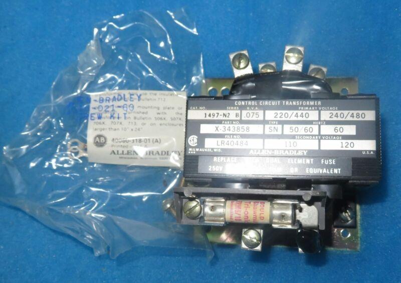 NIB Allen Bradley 1497-N2 Series B 75V Control Circuit Transformer + 1 Year W...