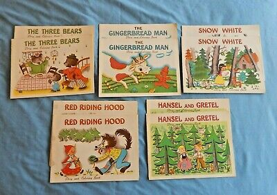 Vintage 1950's Lot of 10 Child's Coloring Story Books Commercial Bank Ashtabula