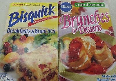 2 paperback cookbooks: Brunches & Desserts; Breakfast & Brunches VG condition
