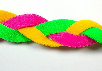 Yellow Pink Neon Green Braid Hair Band Head Sweaty Headband Sweat No Slip ](Neon Green Hair)