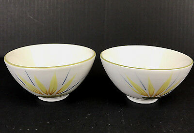 "Vintage Winfield Bird of Paradise Rice Bowl 4-1/2"" Hand Crafted CA Set of 2"