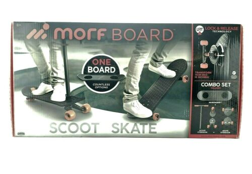 MORFBOARD Skate & Scoot Combo 2-in-1 Kick Scooter 4 Kids 3-Position Adjust Morf