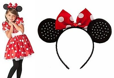 Classic Minnie Mouse Costume (Disney Store Classic Minnie Mouse RED Costume Dress + Ears Headband Set)