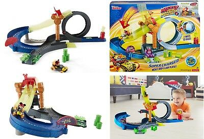 Mickey and the Roadster Racers Mickey Wild Tire Drop & Loop Play set Best Gift