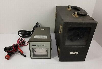 Aws Xr-4000 Three Speed Chart Recorder Model Mvac-600 Volt-amp Module W Case