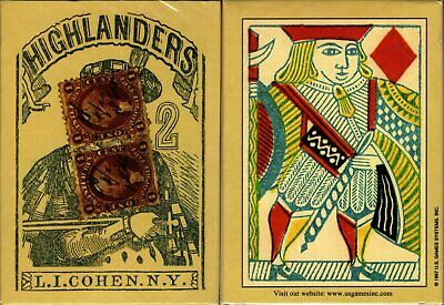 Highlanders 1864 Reproduction Playing Cards Poker Size Deck USGS Civil War New