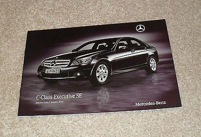 Mercedes C Class Executive SE Brochure 2010 - C180 C200 CDI Saloon & Estate