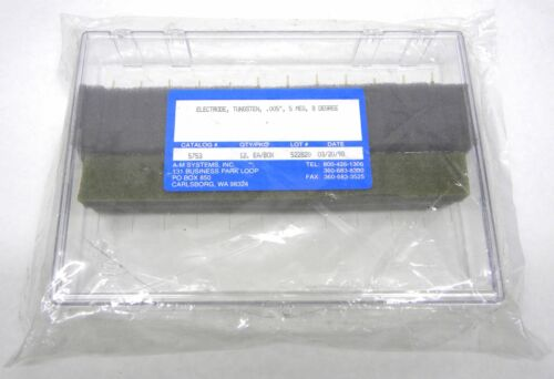 """Box of 12 A-M Systems 5753 Microelectrodes .005"""" Epoxy-Insulated Tungsten"""