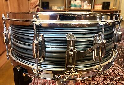 Vintage Late 60s Ludwig Standard Snare Drum - Blue Strata!