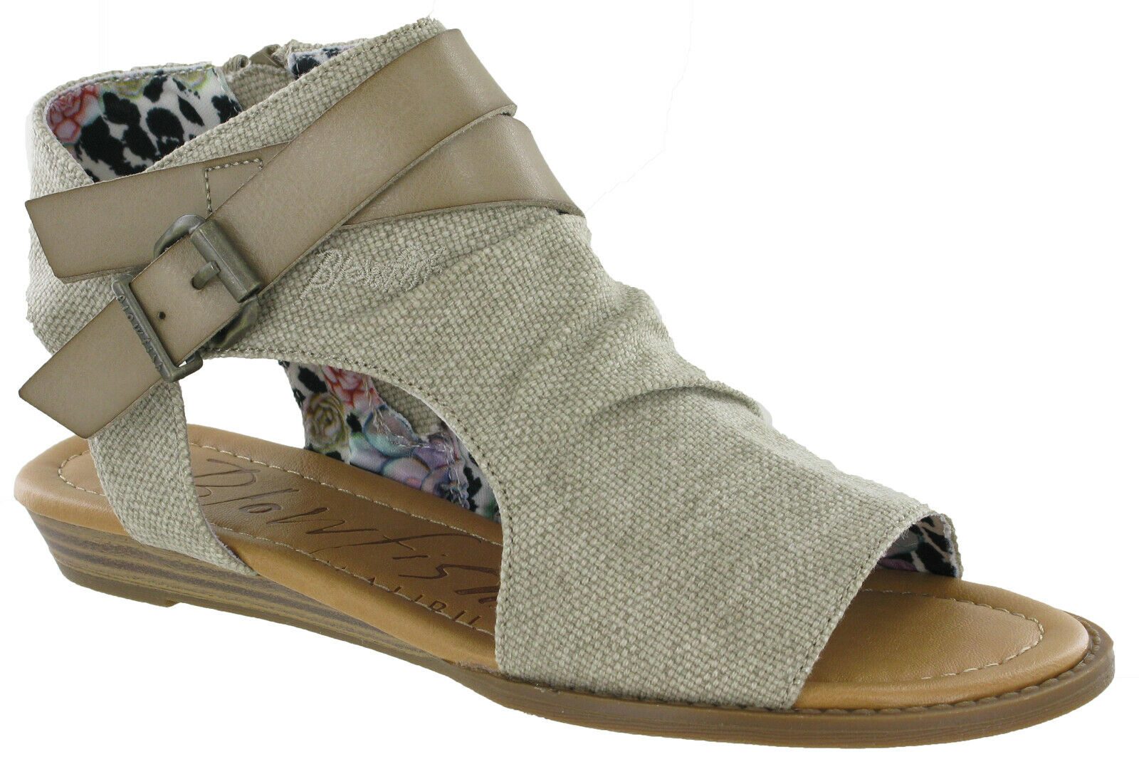 Blowfish Balla Flats Womens Open Toe Fashion Sandals Casual Zip Up Ladies Shoes
