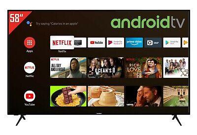 Telefunken XU58AJ600 58 Zoll Fernseher 4K UHD Android TV Prime Video / Netflix