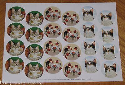 Inquisitive Cats Lowell Herrero 72 sticker envelope seals Hugo Hege Erin Martin