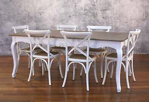 Dining Table French Provincial 3 Sizes Available White Black Grey