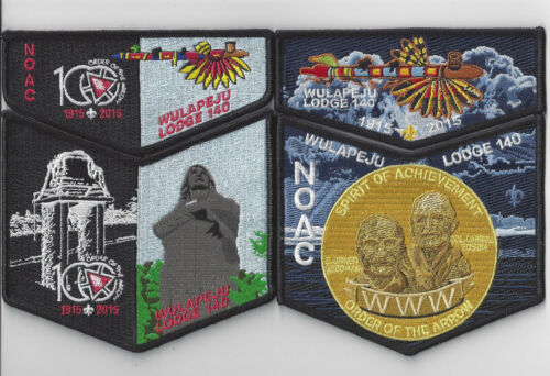 Two Wulapeju 140 NOAC 2015 Patch Sets, Fundraiser w/ Loop, Spirit of Achievement