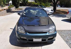 Car Bonnet Mask Hood Bra + LOGO Fits Honda Prelude 1996 1997 1998 1999 2000 2001