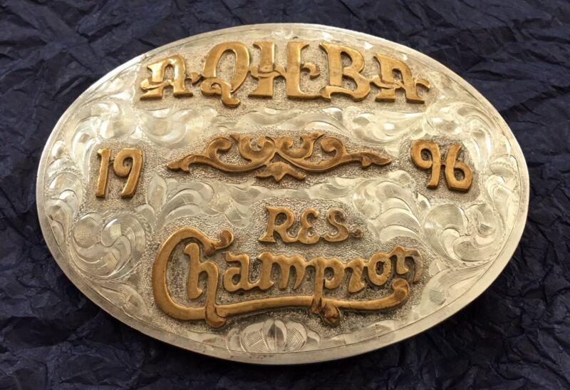 1996 ⚡️AQHBA⚡️ AMERICAN QUARTER HORSE BREEDERS ASSOC CHAMPION TROPHY BELT BUCKLE
