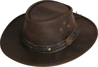 Scippis Hut Westernhut Cowboyhut WILSONS Lederhut Brown Braun NEU