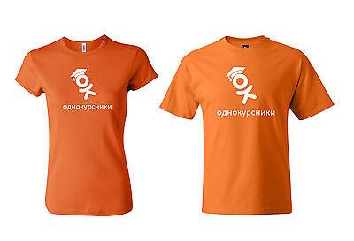 Russian Russia Odnoklassniki Ru Parody Odnokursniki Logo T Shirt  Mens  Ladies
