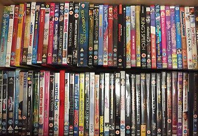 100 mixed DVDs joblot wholesale films resale boot fair