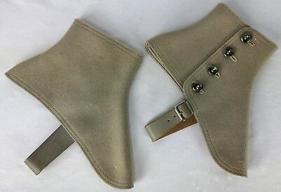 Spats, Gaiters, Puttees – Vintage Shoes Covers H & H Vintage Spats For Dressy Chaps Lot of 2 Taupe and Tan $13.99 AT vintagedancer.com