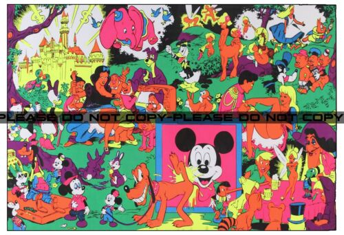 Vintage Disney Pin-up Wally Wood Orgy Sex Drugs Psychedelic Large Reprint 13x19