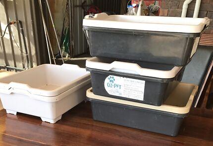 Cat litter trays, catit food tower