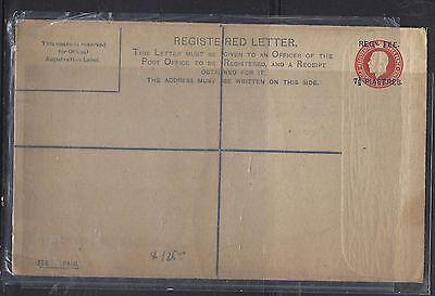 BRITISH LEVANT, TURKEY  (P1708B)  GB KG 7 1/2P RLE  RED    UNUSED