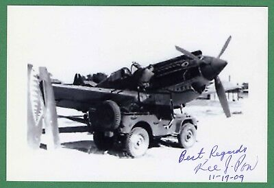 Kee Jueng Pon DECEASED Flying Tigers AVG Signed 4x6 B/W Photo E17611