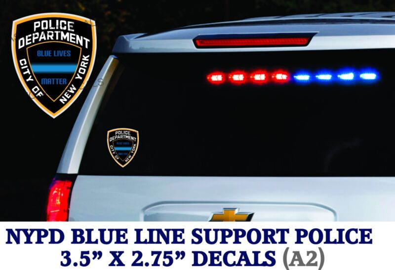2 decals Support Police Thin Blue Line Officers Stickers BLUE LIVES MATTER LE-A2