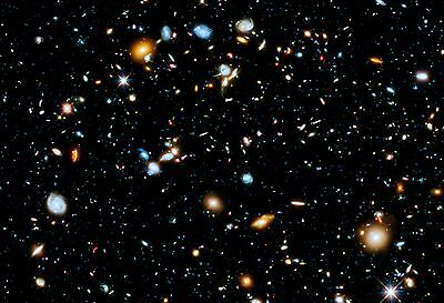 Hubble Ultra Deep Field Hi Gloss Space Poster Fine Art Print