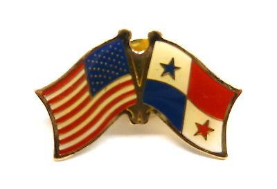 US and Panama Flag Lapel Pin / US & Panama Pin