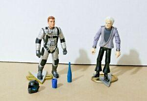 "Star Trek TNG CAPTAIN KIRK + McCOY  4"" Toy / Action Figure Playmates 1992 93"