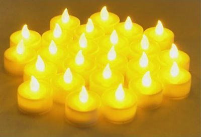 Flameless LED  Tealight  Candles  Tea Light Candle 24pcs Battery-powered LCL24](Battery Tealight)