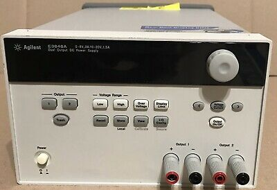 Agilent Hp Keysight E3646a Dual Output Dc Power Supply 0-8v 3a0-20v 1.5a