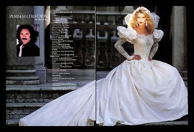 1988 Demetrios Platinum Collection Wedding Dress Gown Vintage PRINT IMAGES 80s