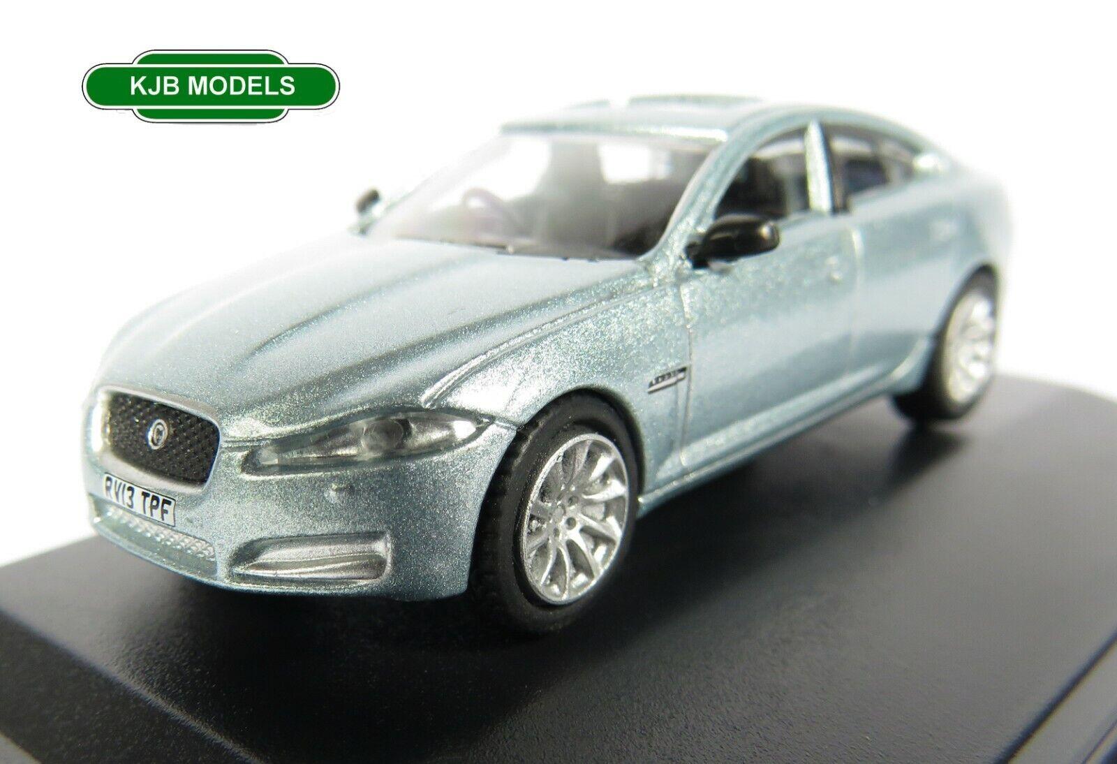 BNIB OO GAUGE OXFORD 1:76 76XF006 Jaguar XF Crystal Blue Car