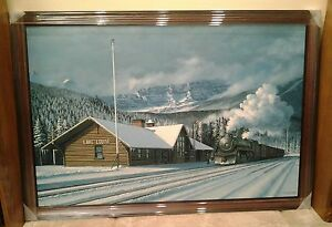 Max Jacquiard limited edition GICLEE print 'Lake Louise Station'