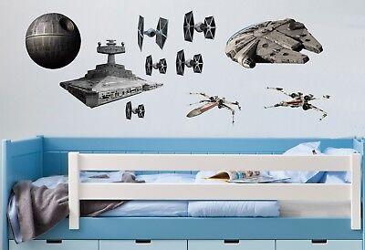 STAR WARS WALL ART,Death Star, Millennium Falcon, Tie Fighters, XWing, Destroyer