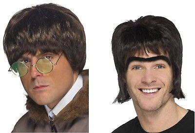 Men's 1990's Brit Pop Band Oasis Member Fancy Dress Wigs Noel Liam Gallagher - Gallagher Kostüm