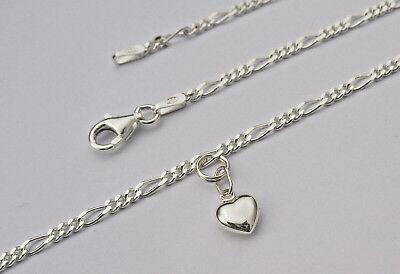 Damen Armkette Armband mit Herz Echt Silber 925 Schmuck variabel tragbar 19 cm (Herz Kette-armband)