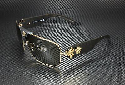 VERSACE VE2207Q 1002 3 Gold Brown 38 mm Unisex Sunglasses